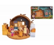 simba Playset Casa Orso richiudibile con personaggi ed accessori (Masha e Orso inclusi)