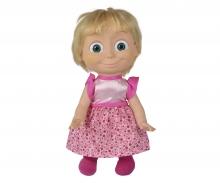 simba Masha Bambola Parlante cm.40, parla e ride quando le si fa il solletico, con voce originale della serie TV. Dice 6 frasi