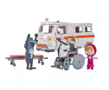 "simba Masha Playset ""Ambulance"""