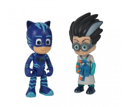 simba PJ Masks Figure Set Catboy+Romeo