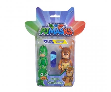 simba PJ Masks Figuren Set Gecko+Gürtel-Till