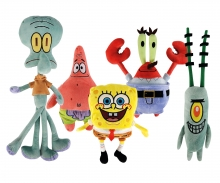 simba Sponge Bob Plush Figurines, 5-ass.