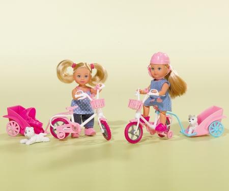 simba Evi con bicicleta y remolque