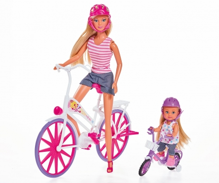 simba Steffi Love y Evi con bicicleta