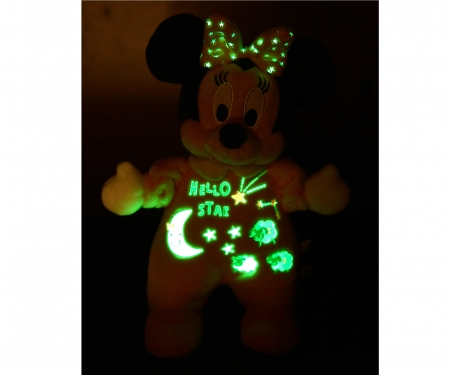 simba Minnie brilla en la oscuridad, 25 cm