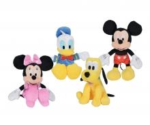 simba Set 4 Peluches Disney - Mickey y sus amigos 25 cm