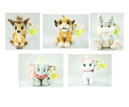 simba Set 12 peluches Disney Animal Friends 17 cm en display