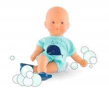 simba Corolle Mini Badepuppe, blau