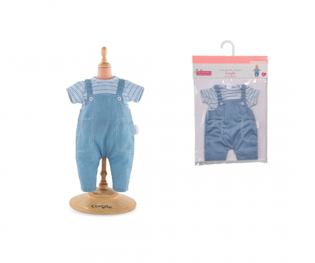"""simba Corolle MPP 14""""/36cm Striped T-Shirt + Overall"""