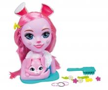 simba Enchantimals Busto Bunny Bree 29cm con accesorios para el pelo
