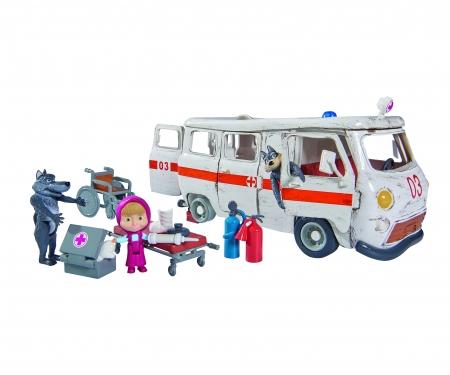 simba Playset Ambulancia con 3 figuras y accesorios