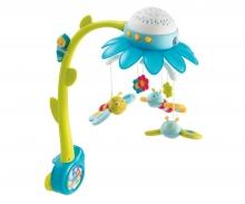 Cotoons Blumen Mobile mit Deckenprojektor, blau