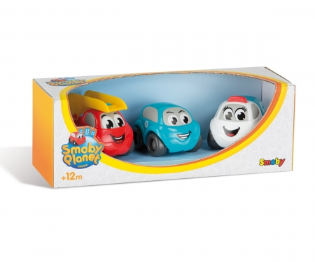 smoby Vroom Planet Mini-Flitzer, 3er-Set