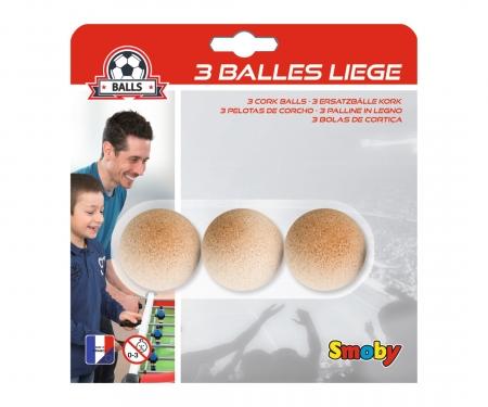3 CORK BALLS 35 MM