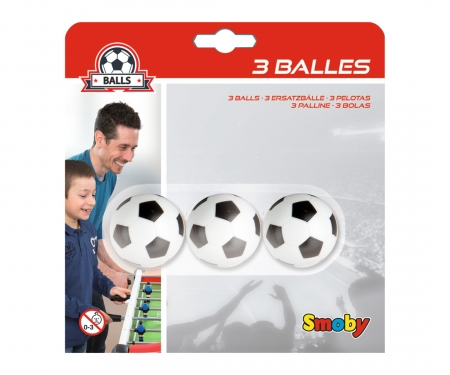 3 BALLES PLASTIQUE 34 MM EN BLISTER
