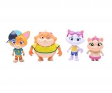 44 Cats Set mit 4 Spielfiguren
