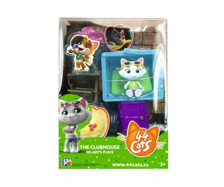 smoby 44 CHATS DELUXE PLAYSET/MILADY