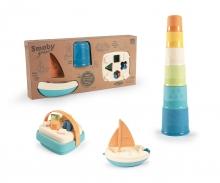 smoby Smoby Green Set Formensteckspiel-Korb und Segelboot aus Biokunststoff