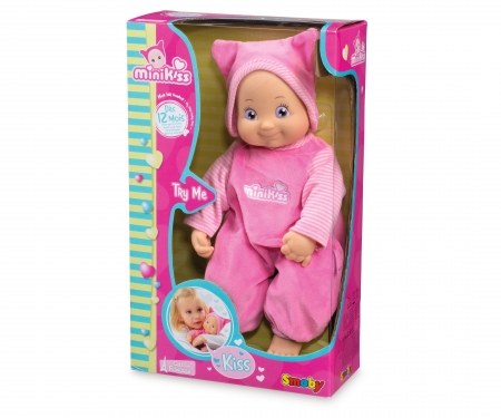 smoby MiniKiss Puppe, rosa