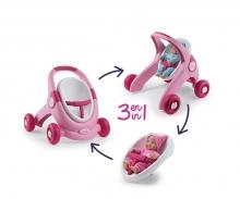 smoby Smoby Minikiss 3-in-1 Lauflern-Puppenwagen