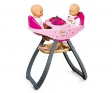 smoby BN Jídelní židlička pro panenky dvojčata