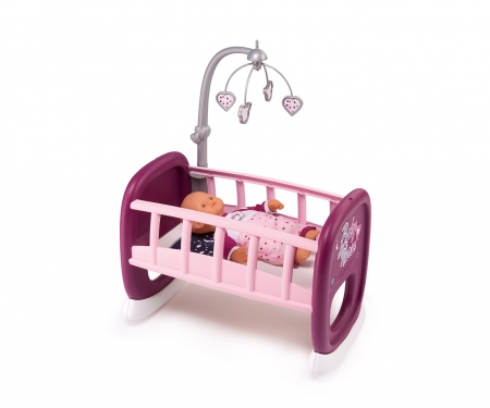 smoby Baby Nurse Puppenwiege mit Mobile