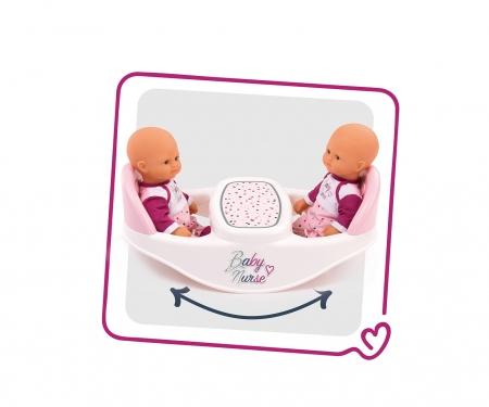 smoby Baby Nurse Jídelní židlička pro panenky dvojčata
