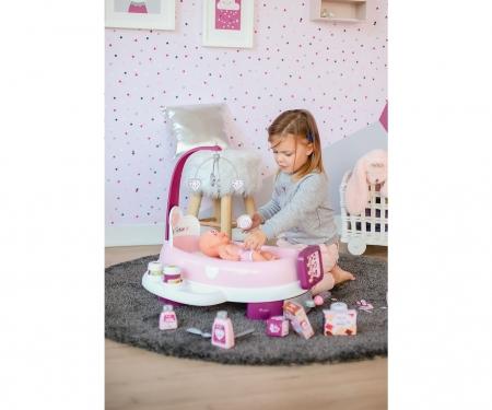 smoby Baby Nurse Postýlka/přebalovací pult, elektr.