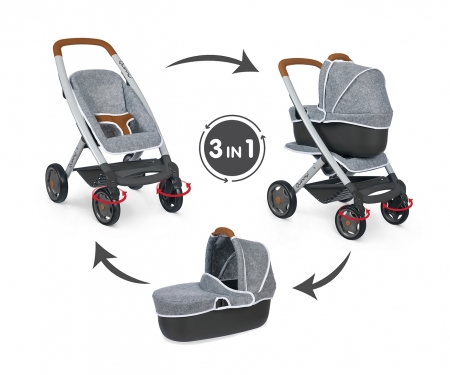 smoby MC&Q GREY PUSHCHAIR + PRAM