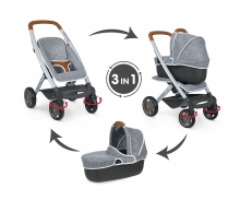 smoby Smoby Quinny 3in1 Multifunktions-Puppenwagen Grau
