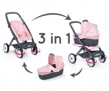 smoby Kombinovaný kočárek Maxi Cosi světle růžový pro panenky