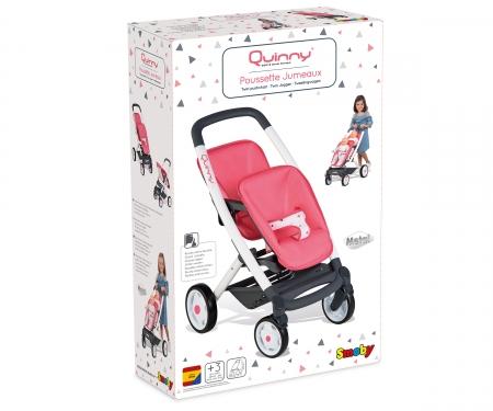 smoby Sportovní kočárek pro panenky dvojčata Maxi Cosi