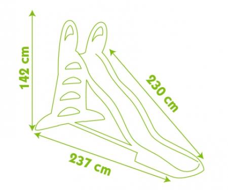smoby Skluzavka XL 230cm s vlhčením