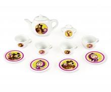 smoby Kávový porcelánový servis Máša a medvěd