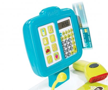 smoby Pokladna elektronická modrá