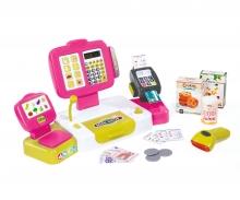 Elektronische Supermarktkasse XL rosa