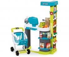 City Shop mit Einkaufswagen türkis/grün