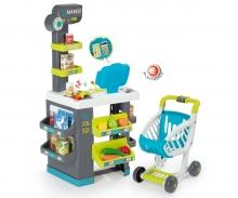 smoby City-Markt mit Einkaufswagen