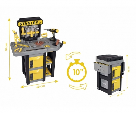 smoby STANLEY OPEN BRICOLO WORKBENCH