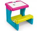 smoby Psací stůl s lavicí růžový