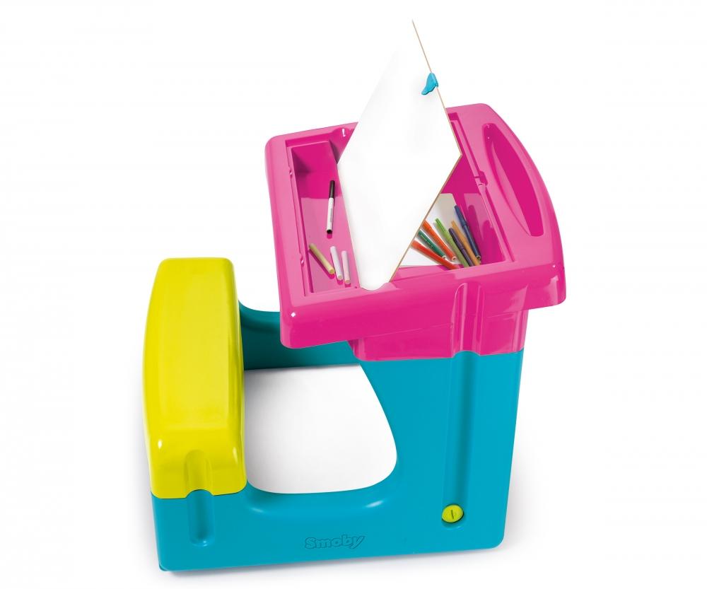 Bureau petit ecolier rose bureaux loisirs créatifs produits