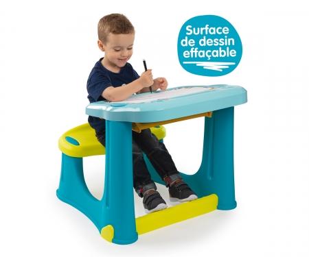 Magický psací stůl s lavicí modrý