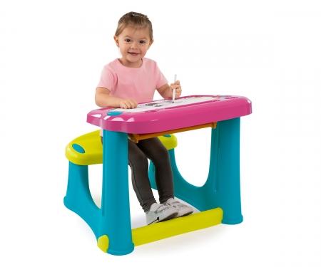 Magický psací stůl s lavicí růžový