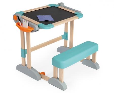 smoby Magnetický psací stůl s lavicí 2v1 dřevěný
