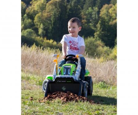 smoby Šlapací traktor Farmer Max se lžící a vozíkem zelený