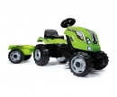smoby FARMER XL GREEN TRACTOR + TRAILER