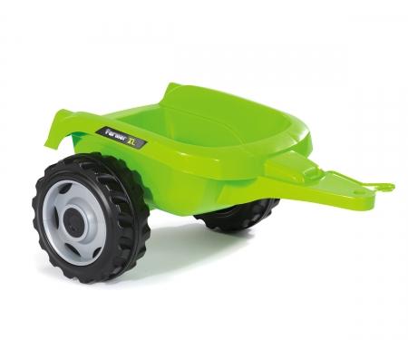 smoby TRACTOR FARMER XL VERDE + REMOLQUE