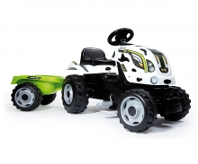 smoby COW FARMER XL TRACTOR + TRAILER