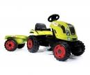 Šlapací traktor CLAAS zelený s vozíkem