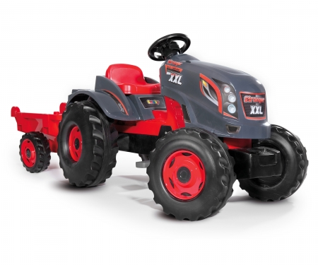 smoby TRACTOR STRONGER XXL + REMOLQUE